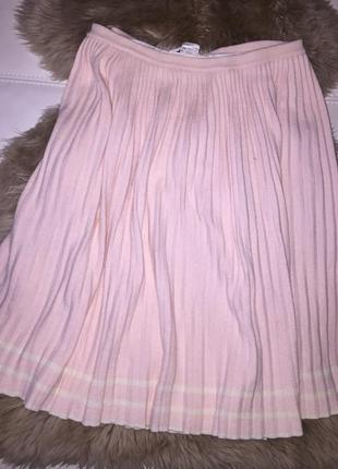 Плиссированная тёплая юбка франция rodier paris