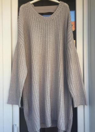 Sweewe франция стильное вязанное оверсайз платье