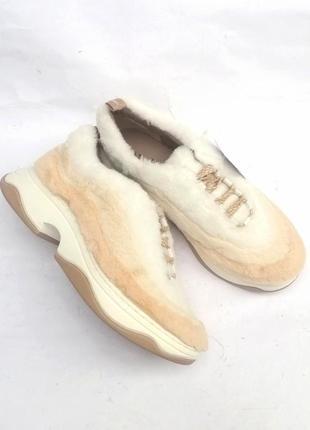 Укутые стильные меховые плюшевые сникерсы, кроссовки на платформе