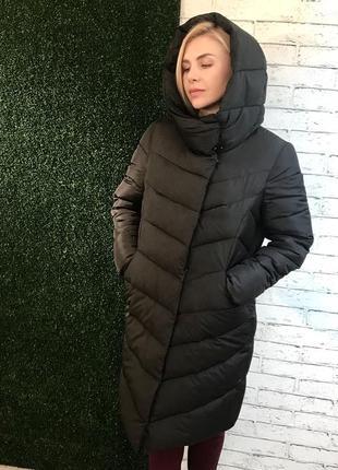 Зимняя тёплая куртка пуховик {наполнитель биопух} до -30°c