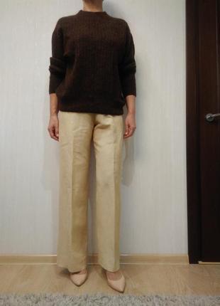 Cтильные льняные брюки max mara р 42