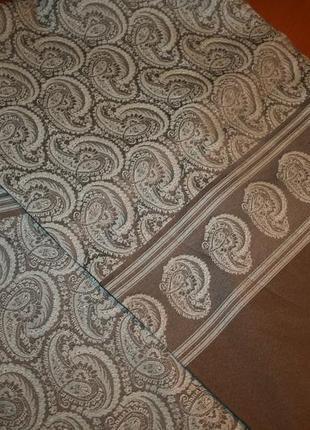 Итальянский элегантный мужской шелковый шарф,в стиле etro