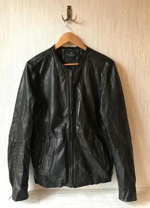 Мужская кожаная куртка scotch and soda