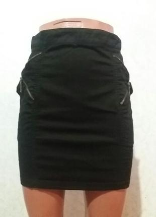 Юбка-мини з кишенями