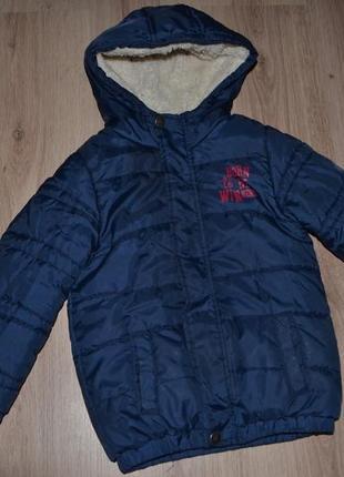 Курточка мальчику зимняя lupilu 5-6л