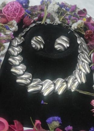 Винтажный набор украшений 70-е сша. + подарок