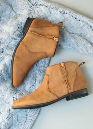 Стильные ботинки челси женские 5th avenue, натуральная кожа (нубук) р. 40