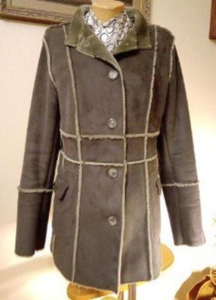Легкая искусственная дубленка-пиджак от best connection