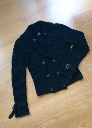Кофта вязаная на пуговицах /свитер / кардиган крупная вязка