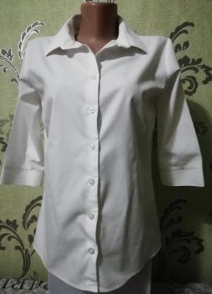 Рубашка белая рукав длиной ¾