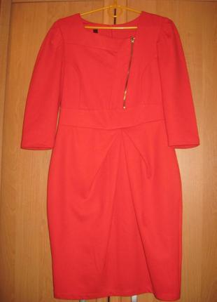 Красное платье деловое вечернее по фигуре футляр