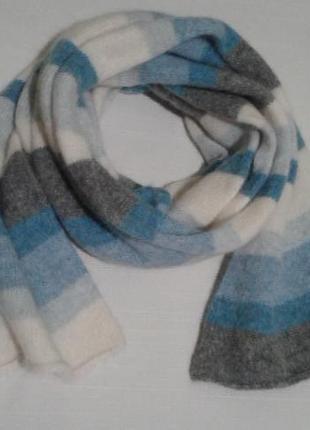Теплый шарф h&m шерсть с ангорой шалик + 250 шарфов платков на странице