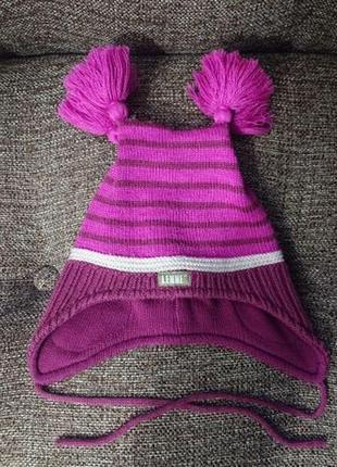 Зимняя тёплая шапка на девочку lenne 44 -46 см    lassie reima