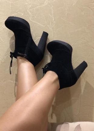 Зимние ботинки ботильоны