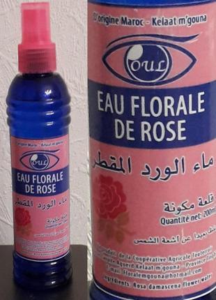 Натуральная розовая вода (гидролат дамасской розы), 200 мл (марокко)