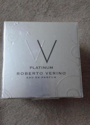Новый в упаковке (оригинал) женский аромат vv platinum roberto verino, парфюм вода, 50 мл.