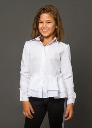 Детская школьная блузка баска