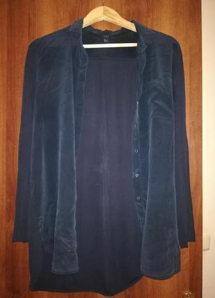 Сорочка темно-синя