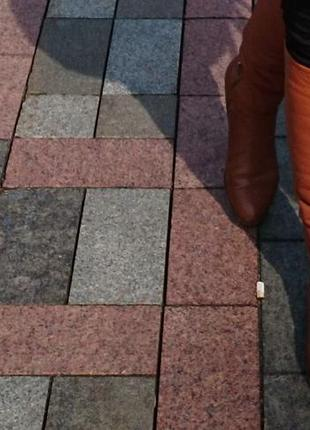 Шкіряні зимові чоботи сапожки кожаные