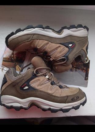 Кроссовки ботинки salomon contagrip 37.5 37 38 24 см 23.5 саломон трекинг деми