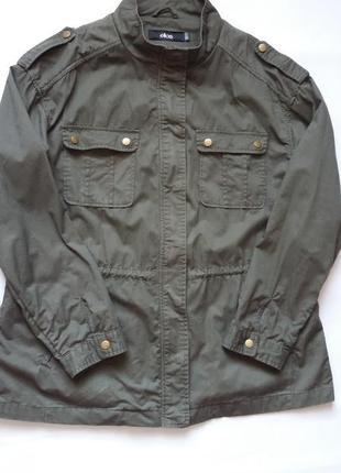 Парка куртка ( без подкладки) цвета хаки 50-52 размер