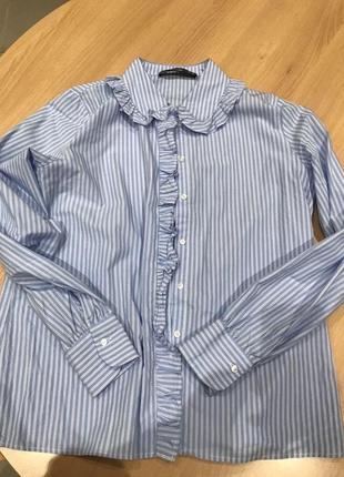 Классическая офисная рубашка в полоску