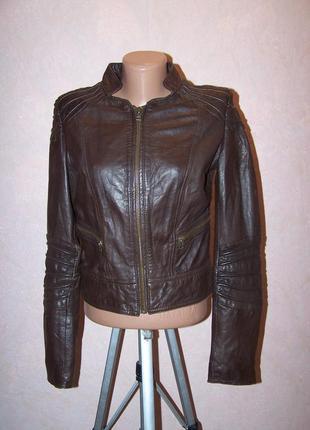 Моднейшая куртка пилот mng 100%натуральная кожа