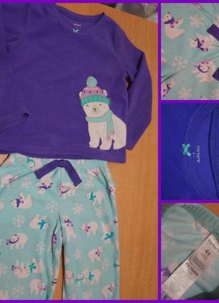 Carter`s флисовая пижама 3-4 года флісова піжама