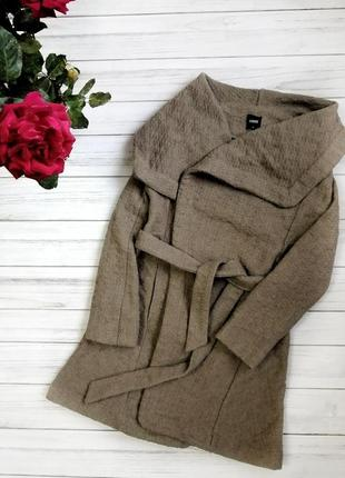 Теплейшее пальто кардиган халат демисезон oasis шерсть