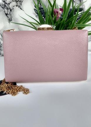 Красивый лиловый клатч сумочка