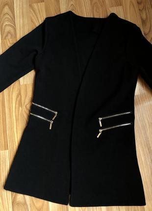 Пиджак zara италия / чёрный жакет