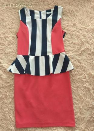 Красивое платье с баской