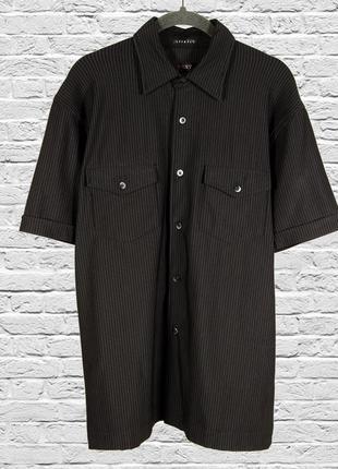 Оверсайз рубашка коричневая, классическая женская рубашка большая