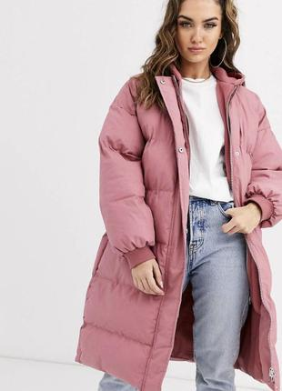 Куртка пуховик розовая новая