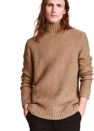 Теплый, вязаный, свитер, гольф, мужской, размер m