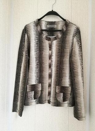 Трикотажная блуза с шелковой отделкой,расцветка рептилия. marc cain