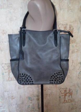 Большая кожаная сумка tom tailor