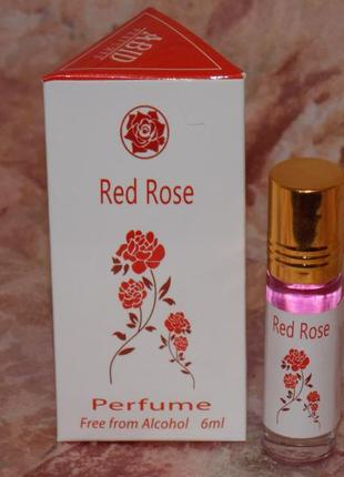 Арабские масляные духи без спирта red rose роллер 6 мл