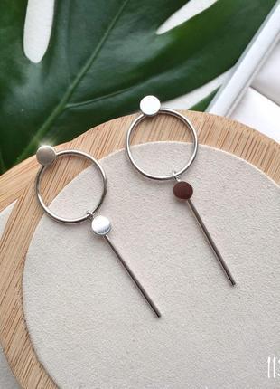 Новые серьги кольца гвоздик