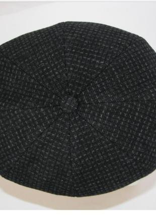 Кепка мужская восьмиклинка  чёрная новая италия