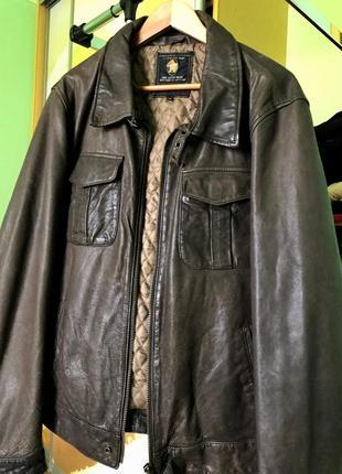 Вітнтажна шкіряна чоловіча куртка
