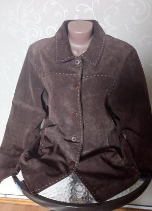 Куртка из натуральной замши berkertex