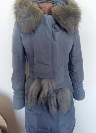 Пуховик натуральный зимняя куртка пальто
