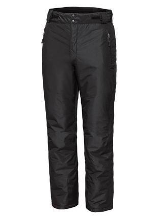 Функциональные термо штаны зимние лыжные брюки для сноуборда черные