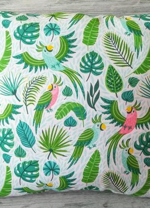 Подушка райські пташки, 35 см * 35 см