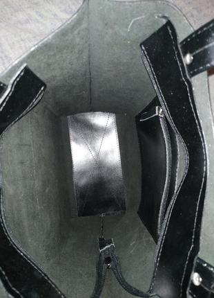 Кожаная сумка-тоут tara sevich8 фото