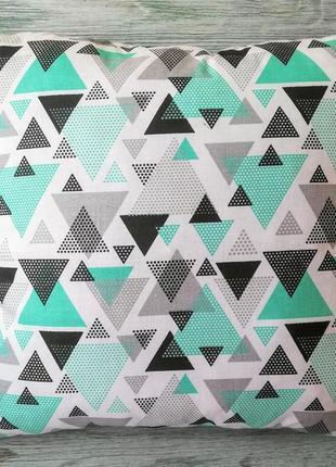 Подушка м`ятні трикутники,  35 см * 35 см