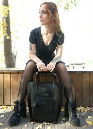Кожаная сумка-тоут tara sevich2 фото