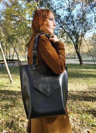 Кожаная сумка-тоут tara sevich3 фото