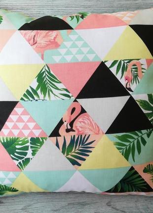 Подушка тропічна мозаїка,  35 см * 35 см